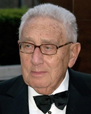 US Secretary of State and Political Scientist Henry Kissinger
