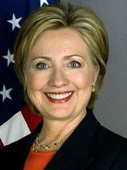 Politician and US First Lady Hillary Clinton