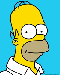 Fictional TV Character Homer Simpson