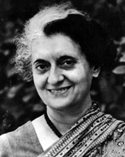 4th Prime Minister of India Indira Gandhi