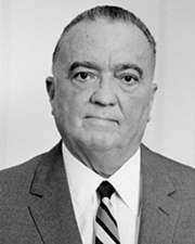 First Director of the FBI J Edgar Hoover