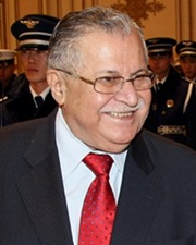6th President of Iraq Jalal Talabani