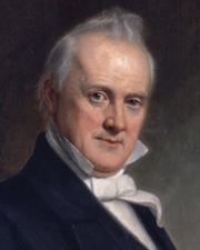15th US President James Buchanan