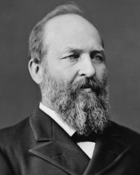 20th US President James Garfield