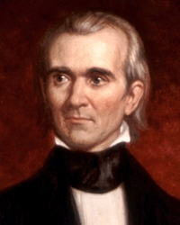 11th US President James Knox Polk