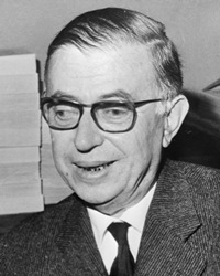 Writer Jean-Paul Sartre
