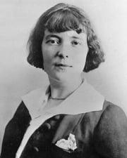 Short story writer Katherine Mansfield