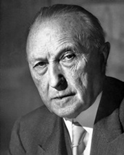 Chancellor of West Germany Konrad Adenauer