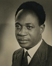 First President of Ghana Kwame Nkrumah