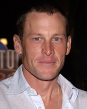 Professional Road Cyclist and Testicular Cancer Survivor Lance Armstrong