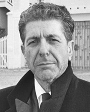 Singer-songwriter and writer Leonard Cohen