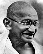 Pacifist and Spiritual Leader Mahatma Gandhi