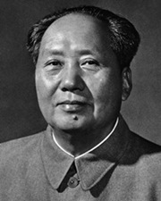 Chinese Revolutionary and Chairman of the Communist Party Mao Zedong