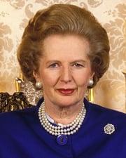 British Prime Minister Margaret Thatcher