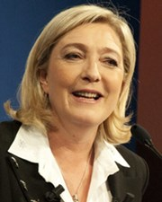 President of the National Front Party Marine Le Pen