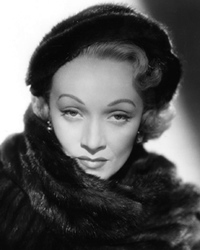 Actress and Singer Marlene Dietrich