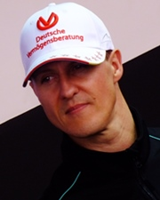 Formula 1 Racing Driver Michael Schumacher