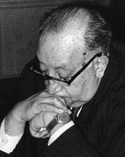 Writer/Nobel Laureate Miguel Asturias
