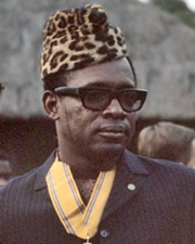 President of Zaire Mobutu Sese Seko