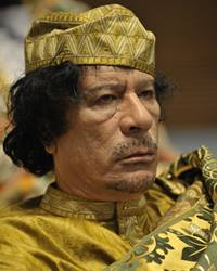 Libyan Revolutionary and Authoritarian Leader Muammar Gaddafi