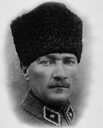 President and founder of the Republic of Turkey Mustafa Kemal Atatürk