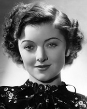 Actress Myrna Loy