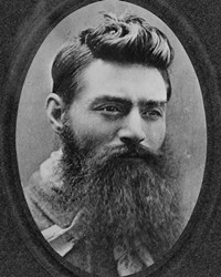 Leader of the Kelly gang Ned Kelly