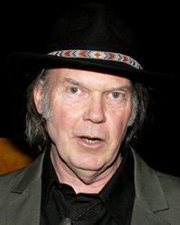 Singer-songwriter Neil Young