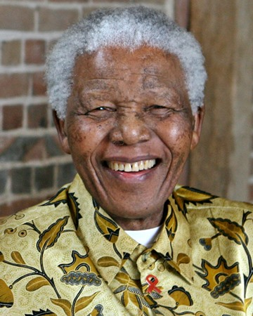 Anti-apartheid activist and South African President Nelson Mandela
