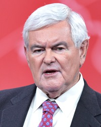 US Speaker of the House Newt Gingrich
