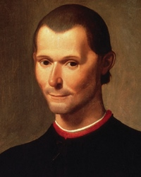 Humanist philosopher Niccolo Machiavelli