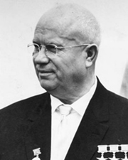 First Secretary of the Communist Party of the Soviet Union Nikita Khrushchev