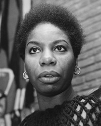 Singer and Civil Rights Activist Nina Simone