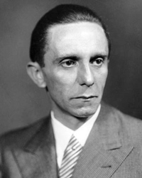 Nazi Minister of Propaganda and Information Joseph Goebbels