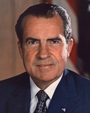 37th US President Richard Nixon