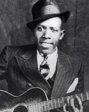 Singer and guitarist Robert Johnson