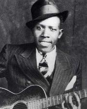 Singer and guitarist Robert Johnson