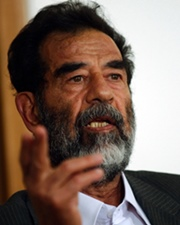 Iraqi President and Dictator Saddam Hussein