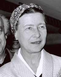 Author Simone de Beauvoir