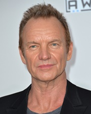 Singer and Actor Sting