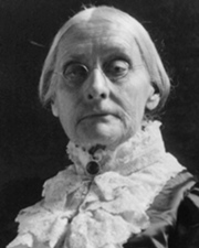Suffragette Susan B. Anthony