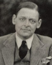 Author and Nobel Laureate T S Eliot