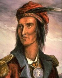 Native American Leader of the Shawnee Tecumseh