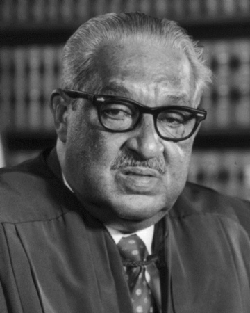 First Black Supreme Court Justice Thurgood Marshall