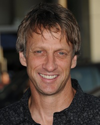 Skateboarder Tony Hawk