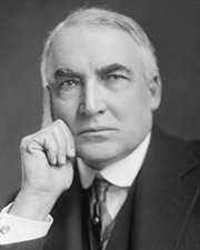 29th US President Warren G. Harding