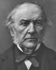 British Prime Minister William Gladstone