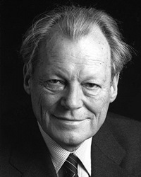 Chancellor of West Germany Willy Brandt