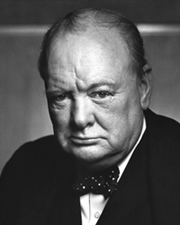 British war time Prime Minister Winston Churchill