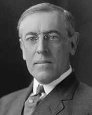 28th US President Woodrow Wilson